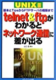 [ Book ] telnet&ftpがわかるとネットワーク通信に差が出る UNIX版—基本とTipsからFTPサーバの構築まで 価格: 2,289円 Amazon: 2,289円 USED: 250円〜 著者: 山口 至 発売日: 1999/02 発売元: メディアテック出版 発送状況: 通常3〜5週間以内に発送